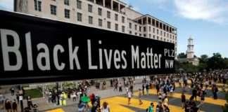 Black Lives Matter Plaza street sign