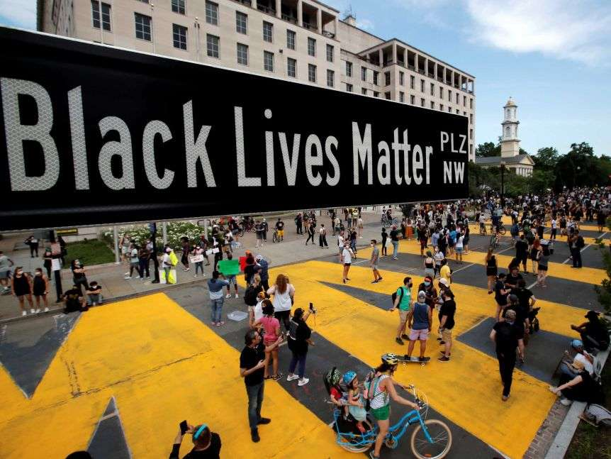Black Lives Matter Plaza street sign